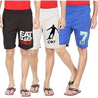 hotfits Men Cotton Self Design Shorts