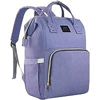 EZGO Land Baby Diaper Changing Bag, Mom Dad Backpack Rucksack, Hospital Maternity Bags, Large Capacity & Wide Open Design & Waterproof & Keep Warming - Girl & Boy (Light Purple)