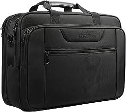 """KROSER 18.5""""Laptop Tasche Laptop Aktentasche Passt bis zu 18 Zoll Laptop Wasserabweisend Computer Tasche Umhängetasche erweiterbar Extra große Kapazität für Reisen/Business/Schule/Men-Schwarz"""