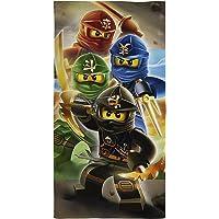 LEGO-Badetuch aus Baumwolle mit den Ninjago-Quadrant-Kriegern, auch als Strandtuch geeignet
