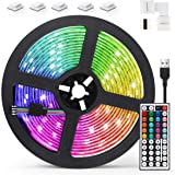 AGPTEK 5M LED Strip Lights RGB 5050 Colorful Lights with Remote Control 20 Colors 8 Brightness Modes Decorative LED Tape Ligh