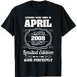 Las leyendas nacen en abril de 2008 13 cumpleaños Camiseta