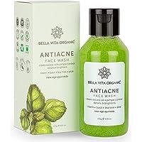 Bella Vita Organic Anti Acne Face Wash for Oil Control, Pimples Repair & Glow with Neem, Basil, Tea Tree & Aloe, 115g