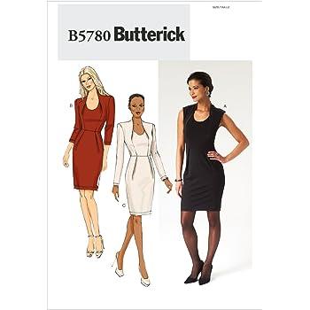 Butterick Schnittmuster 5780 A5 Kurzgrößen Damen Kleid,Dress