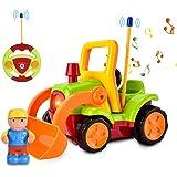 Auto Telecomandata per Bambini, con Musica e Luci, Regalo di Compleanno per Ragazzi e Ragazze, Verde