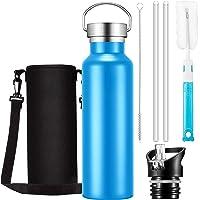 OMORC - Bottiglia isotermica, thermos di isolamento, sottovuoto, acciaio inossidabile senza BPA, freddo per 24 ore e…