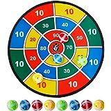 ANNA SHOP Kinderdartbord klittenband met 8 ballen, zelfklevend, Ø 37 cm