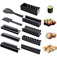 Kit de fabrication de sushi, Ensemble de 10 pièces DIY Sushi Maker Set, 8 formes de moule de rouleau de riz à sushi…