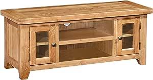 Roseland Furniture Grand Meuble TV en chêne Devon
