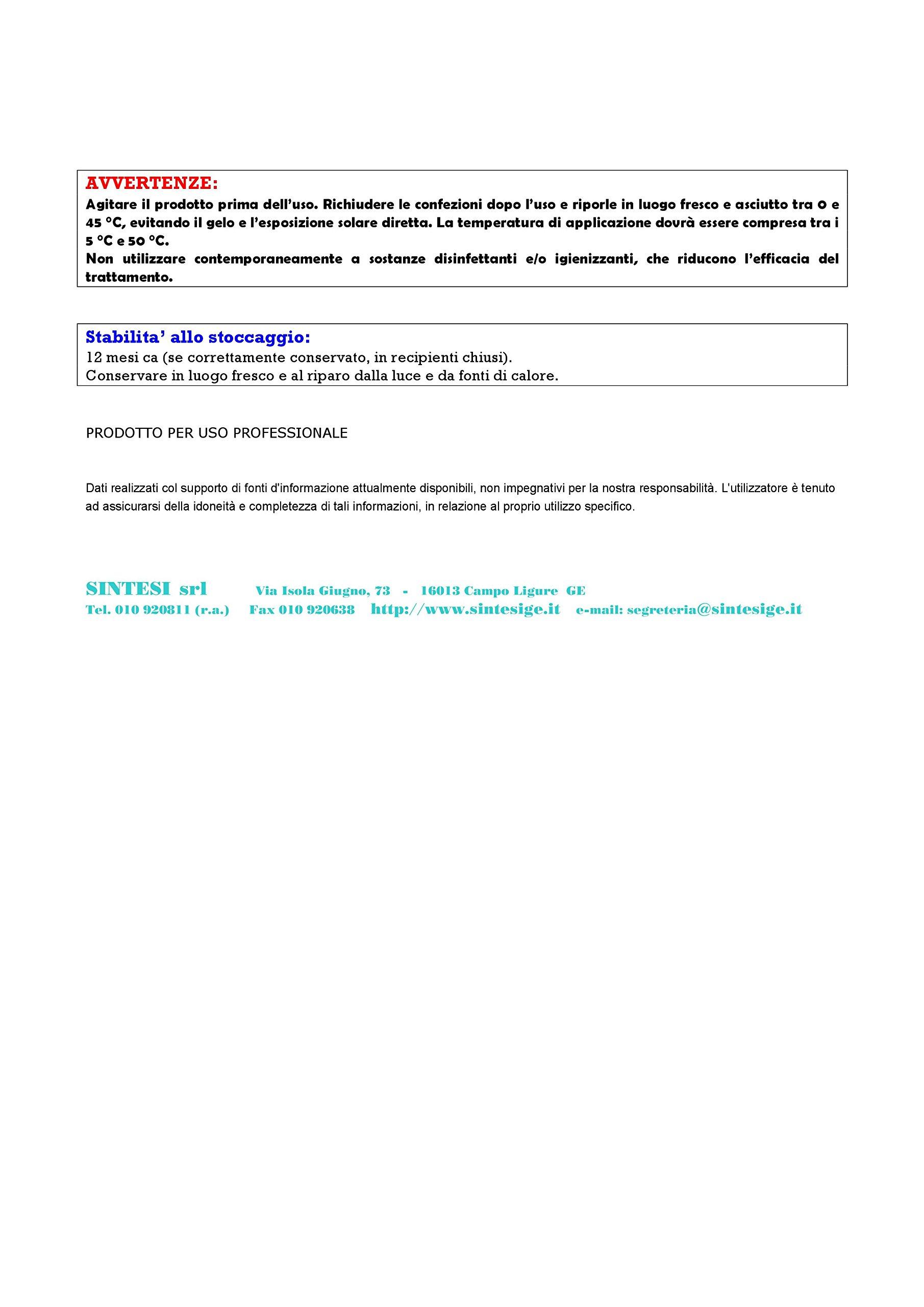 SINTESI SRL BIO Camper WC ml.1000 attivatore Biologico WC Portatili