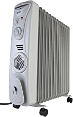 Usha Oil Filled Radiator (3511 F) 2300-Watt with Over Heating Protection (White)