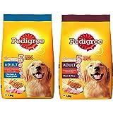 Pedigree Adult Dry Dog Food, Chicken & Vegetables, 1.2kg Pack and Adult Dry Dog Food, Meat & Rice, 1.2kg Pack