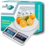 Ionix Weight Machine | Weighing scale, Digital Weight Machine, Weight Machine for Home Kitchen & Shop, Multipurpose Portable,