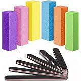 MAYCREATE® Nail Files and Buffers Professional Manicure Tools Kit, Rectangular Art Care Buffer Block Tools 100/180 Grit 12Pcs
