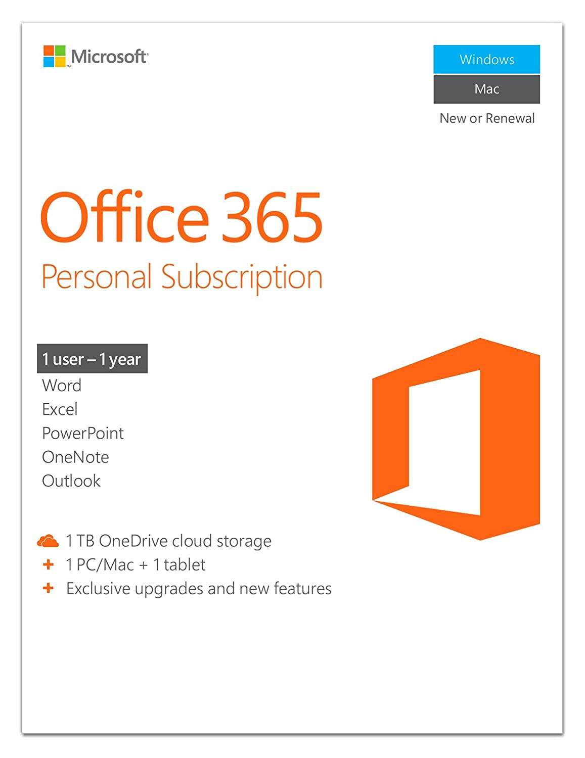 Microsoft Office 365 Home - 5 Users - 1 Year Subscription