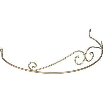 betthimmel rundbogen f r himmelbett baldachin matt gold stahl geschmiedet. Black Bedroom Furniture Sets. Home Design Ideas