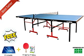KTR Metco Super Deluxe Table Tennis Table with (Free TT Table Cover + TT Bats & Balls)