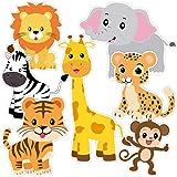 Festiko® 21Pcs Zoo Animals Cutouts Safari Jungle Theme Birthday Party Decoration Cut-Outs for Room Decoration/Baby Shower Bir
