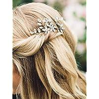 Simsly FS-200 Fermaglio per capelli con strass, per spose e damigelle d'onore, confezione da 2 pezzi