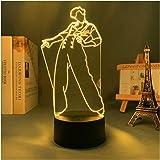 Lámpara De Ilusión 3D, Lámpara De Harry Styles, Regalo para Fanáticos, Decoración De Dormitorio, Luz Nocturna, Sensor Táctil
