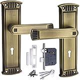 """MORTICE Handle, MORTICE Lock, Door Lock, Lock, Atom Lock Glanza K/Y B.A.8"""" with Lezend 65mm Double Action Lock,Mortise Lock,Door Lock"""