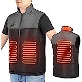 Haofy Chaleco Calefactor Mujer Eléctrica Chaqueta Calefactable con 3 Temperaturas Ajustables & 4 Zonas, USB Ropa con Calefacc