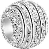 Andante-Stones - Original, Plata de Ley 925 sólida, Cuenta de Plata Stardust, Elemento Bola para Cuentas European Beads + Sac