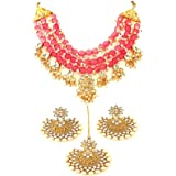 The Opal Factory Signature Collection - Traditional Rajasthani Gold Imitation Necklace Mala in Semi Precious Gold Plated Bras