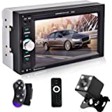 "Dubbele Din Auto Stereo 6.2 ""Autoradio Digitale Touchscreen Bluetooth Multimedia Mp5 Speler met Achteruitrijcamera, Spiegel L"