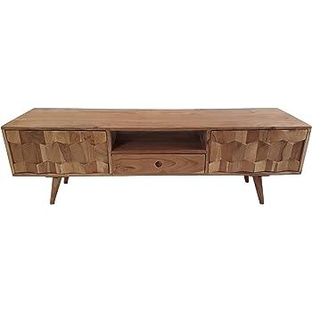 freudenhaus retro tv board sideboard honeycomb akazie massiv k che haushalt. Black Bedroom Furniture Sets. Home Design Ideas
