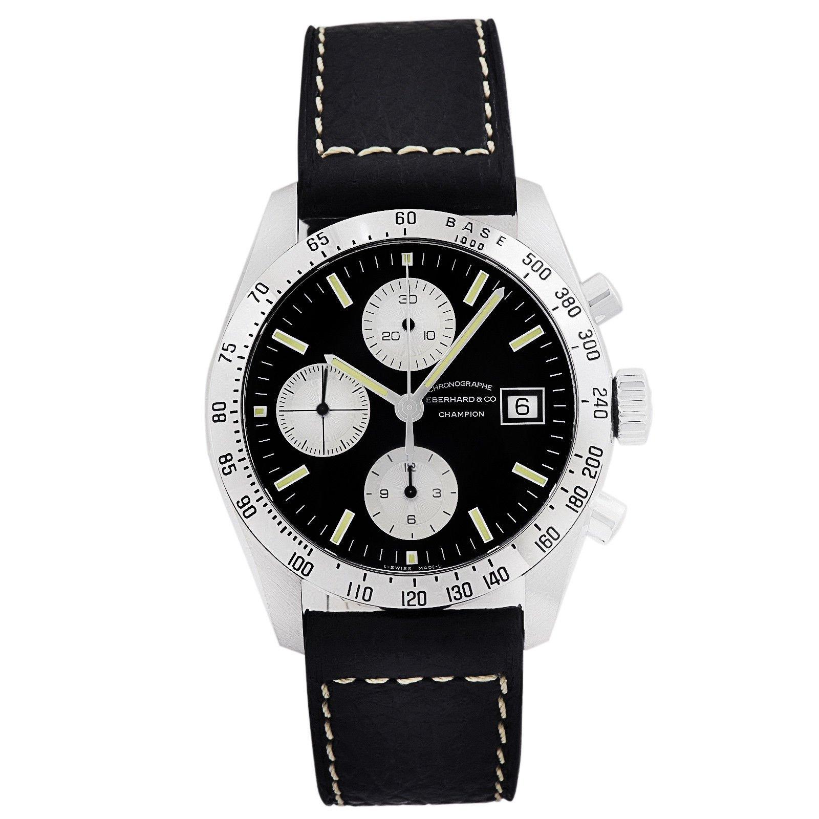04 Suiza Hecho HombreCronógrafo Eberhardamp; Para En 31044 CoChampion Reloj Automático De Pulsera shotxdBrQC