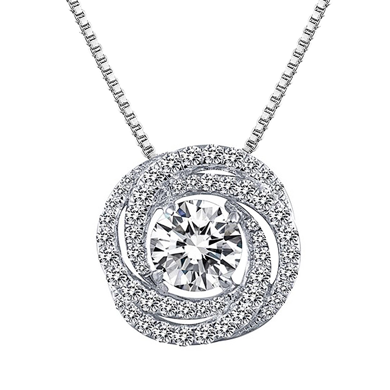 Collier symbole dinfini bijou en argent 925 pour femme fille Ensembles de bijoux pendentif diamant/é boucles doreille de symbole infini Cadeau No/ël anniversaire