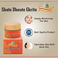 Gavyamart Shata Dhauta Ghrita - Natural Desi Ghee Skin Moisturizer (100 Times Washed Ghee) - (3*25GM)