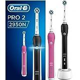 Oral-B PRO 22950N CrossAction Oplaadbare Elektrische Tandenborstel - 2 Handvatten: 1 Roze En 1 Zwart, 2 Opzetborstels
