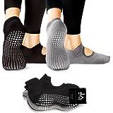 LA Active Grip Chaussettes Antidérapantes - Pour Yoga Pilates Barre Femme  Homme - Ballet f0accf25543