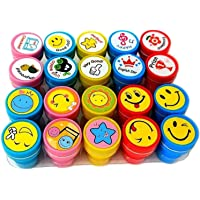 FunBlast 10 Emoji and 10 Motivation Stamper for Kids Educational Toys Art and Craft School Supplies Set of 20 Learning…