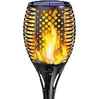 Solarleuchten//12LED Solar Flame Light Wasserdichtes Garten Fackeln Solarleuchte Solar Fackel Garten Solar Flamme Lampe Hochfestes Taschenlampenlicht F/ür Die Garden Villa Street