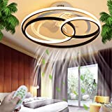 Ventilateur De Plafond Avec Éclairage Plafonnier LED Télécommande À Intensité Variable Silencieux Créatif Lampe De Plafond Po