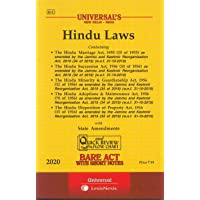 Hindu Laws with State Amendments – Bare Act with Short Notes