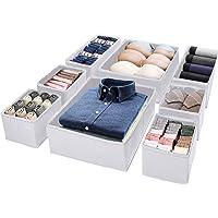 Puricon 8 Boîtes de Rangement Ouvertes pour Etagère Armoire et Placard, Paniers de Rangement Pliables en Tissu pour…