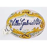 Targhe Numeri Civici Insegne Porta Ingresso Ceramica Realizzato e dipinto a mano Le Ceramiche del Castello Nina Palomba Made