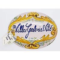 Targhe Numeri Civici Insegne Porta Ingresso Ceramica Realizzato e dipinto a mano Le Ceramiche del Castello Nina Palomba…