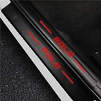 4D Benvenuto Pedale Adesivo Decorativo DAETNG 4 Pezzi battitacco Auto soglia soglia Auto Copertura Pannello in Fibra di Carbonio Passo Strisce protettive Pellicola per Fiat Fullback