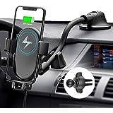 Mpow Caricatore Wireless Auto, Auto-Bloccaggio Qi Caricabatterie Ricarica Rapida Supporto10W/7.5W/5W, per iPhone 12/11/11 Pro