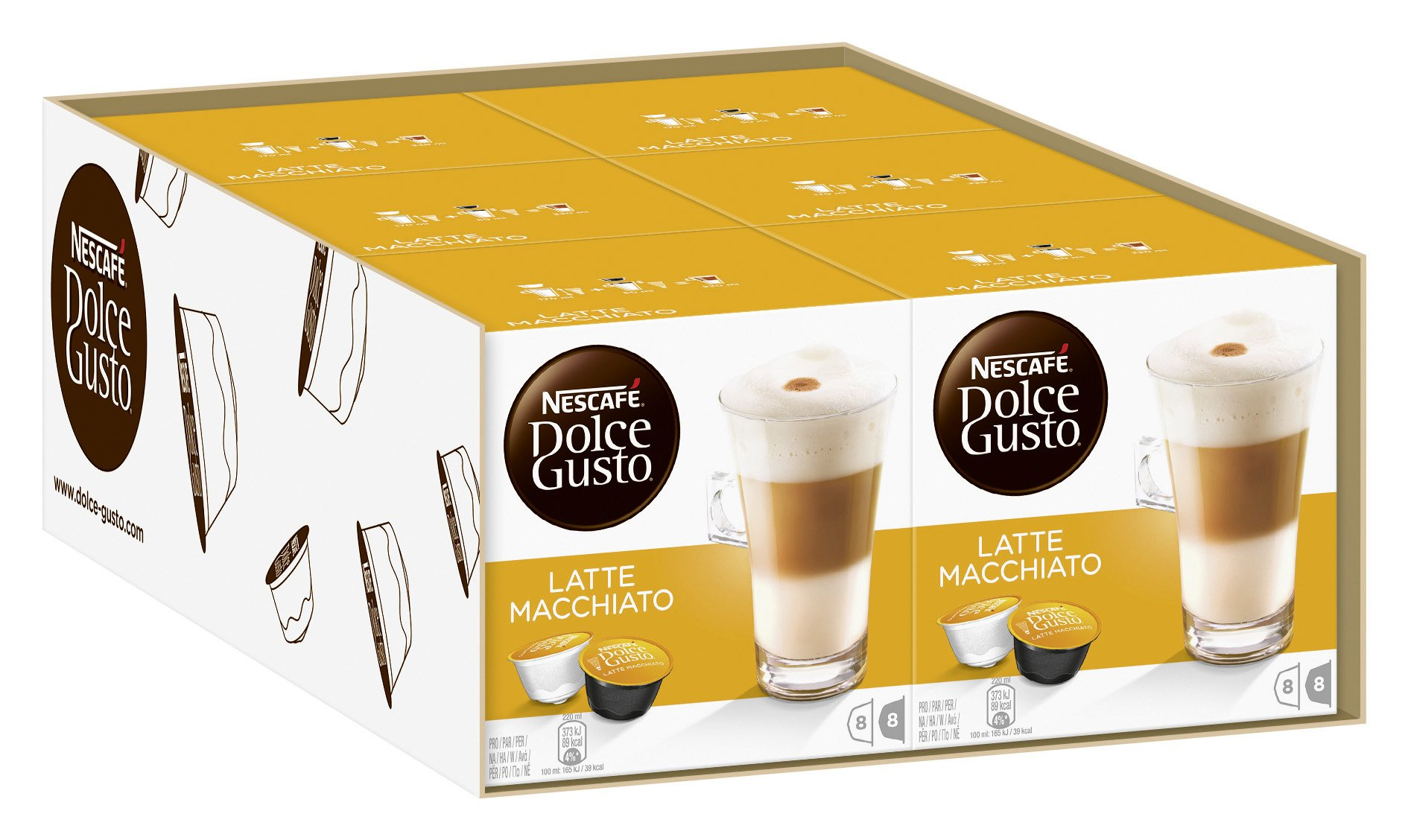 Nescafé Dolce Gusto Latte coffee pods and capsules