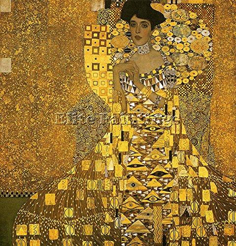 Elite-Paintings GUSTAV KLIMT 1907 PORTRAIT ADELE BLOCH BAUER01 ARTISTA QUADRO DIPINTO OLIO TELA 100x100cm alta qualita