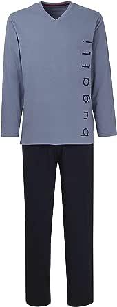 Bugatti Men's Long Pyjamas Pyjamas Comfortable Non Iron