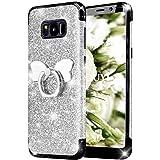 KOUYI Cover Galaxy S8, [3 in 1 Massima Protezione da Silicone Molle TPU e Duro PC] Glitter Bumper Protezione Cover,Moda Bling