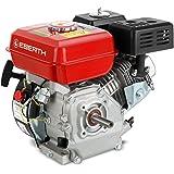 EBERTH 6,5 CV Moteur à essence thermique (20 mm Arbre, Alarme manque d'huile, 4 Temps, 1 Cylindre, Refroidissement à air, Dém