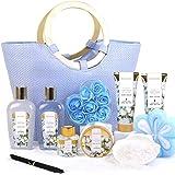 Green Canyon Spa Coffret Cadeau Femme, 10 PCS Coffet De Bain au Parfum de Coton, Comprend Gel Douche, Sels De Bain, Diffuseur